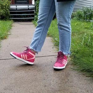 [Adidas] pink high top